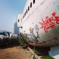 Bangkok - un avion abandonné...