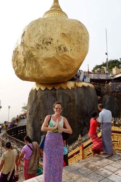 Golden rock myanmar 12