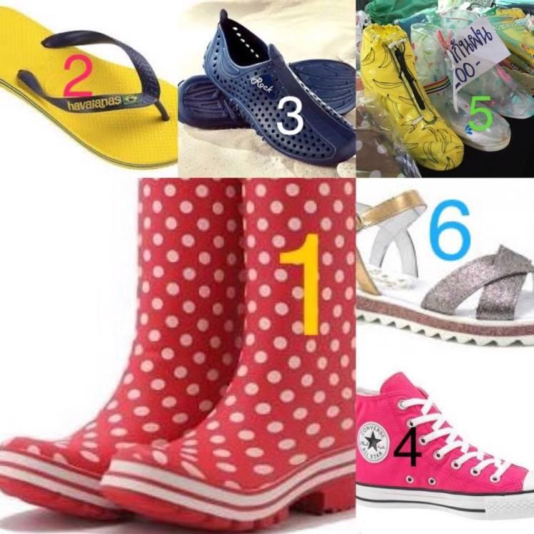 chaussures pendant la mousson en thailande