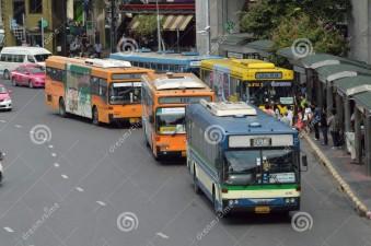 bus victory monument bangkok