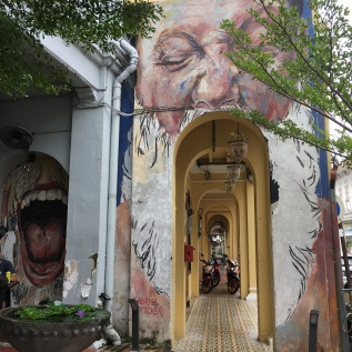 penang - georgetown - peintures sur les facades 2
