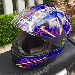 purple helmet real