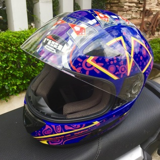 purple helmet real