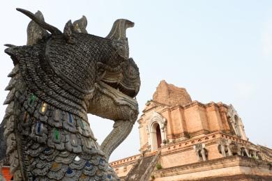 thailande - chiang mai - wat chedi luang - temple du grand stuppa - lectourebangkok (1)